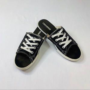 Converse tennis shoe sandals Sz 9 black white